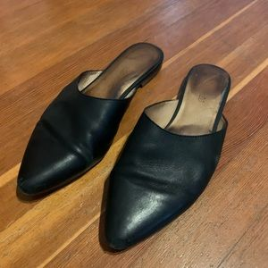Madewell Black Leather Remi Mule